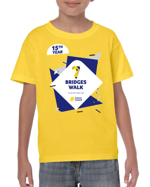 kids custom tshirt yellow